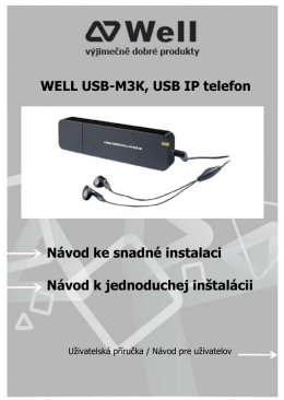 WELL USB-M3K, USB IP telefon Návod ke