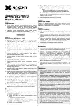 všeobecné pojistné podmínky pro rizikové životní pojištění 950