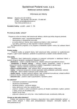 Informace pro klienty DC Jamtana
