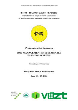 SOIL MANAGEMENT IN SUSTAINABLE FARMING SYSTEMS