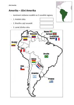 Amerika – Jižní Amerika