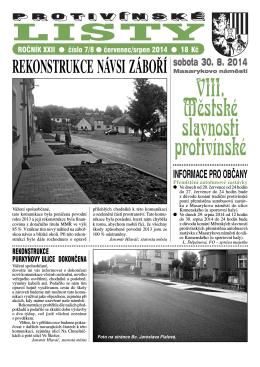 Protivínské listy 07-08/2014 (PDF, cca 4 MB)