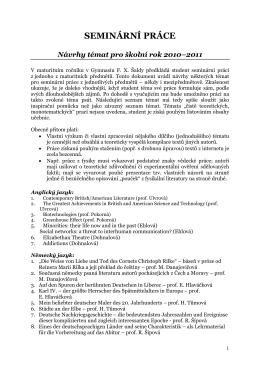 Vypsaná témata pro školní rok 2010-2011 (PDF)