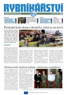 Noviny Rybníkářství 19. číslo - Rybářské sdružení České republiky