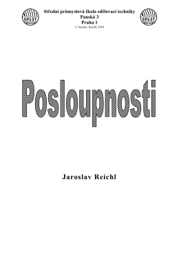 Posloupnosti - Jaroslav Reichl