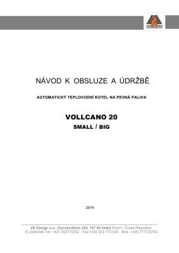 Návod k obsluze Vollcano 20