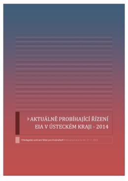 aktuálně probíhající řízení eia v ústeckém kraji - 2014