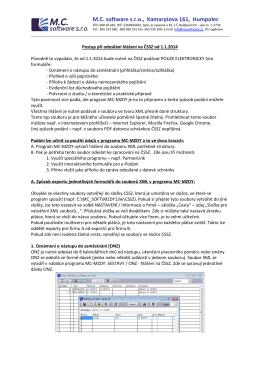 Popis odesílání hlášení elektronicky na ČSSZ