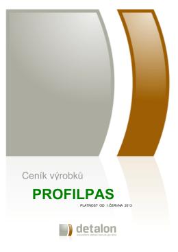 Titulní strana ceníku Profilpas - 1.6.2013
