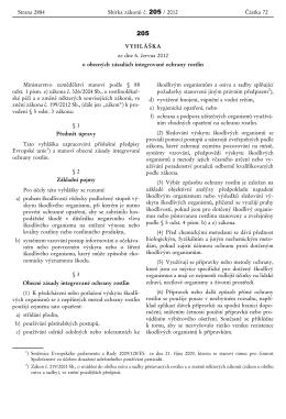 vyhláška 205-2012