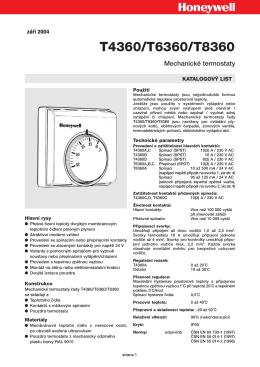 Honeywell – Mechanické termostaty