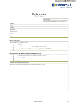 Škodní protokol - vstupenky