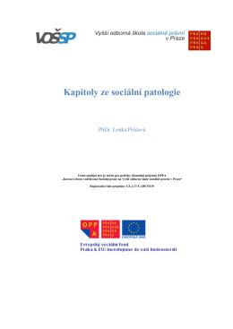 Kapitoly ze sociální patologie