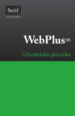 Uživatelská příručka WebPlus X5