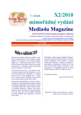 Mimořádné vydání - Média a vzdělávání 2010
