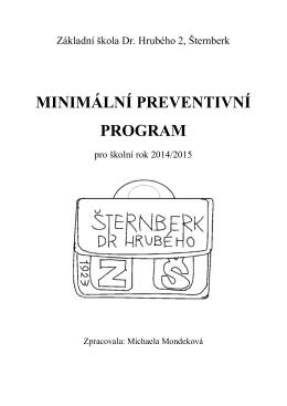 Minimální preventivní program 2014/2015