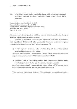 """Č. j. 40992-2/2013-9000000-231 Věc: """"Neveřejná"""" čerpací"""