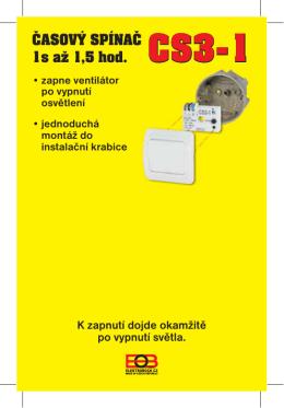CS3-1-návod - ELEKTROBOCK CZ s.r.o.