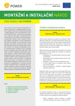 MOntážní a instalační NáVoD - GS Energy Europe Distribution