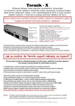 Termík - plechový radiátor