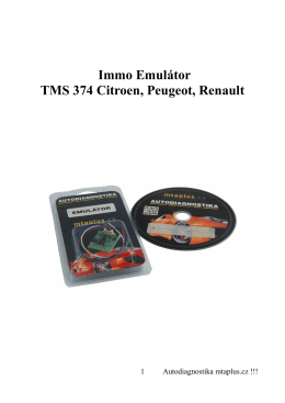 Immo Emulátor TMS 374 Citroen, Peugeot, Renault