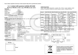 3 a ½ místné LED panelové měřidlo HD-3438
