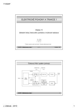 elektrick elektrické pohony a trakce 1 pohony a trakce 1