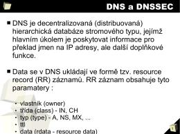 DNS a DNSSEC
