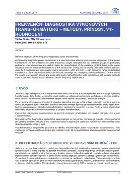 Frekvenční diagnostika výkonových transformátorů
