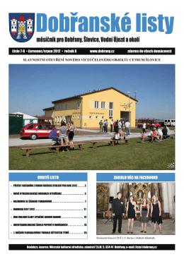 Dobřanské listy - červenec/srpen 2012