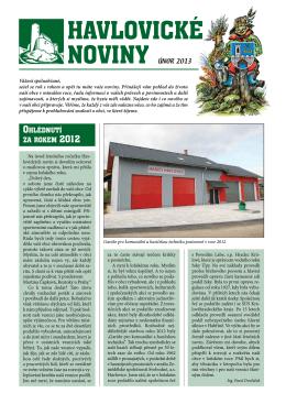 Havlovické noviny 2013