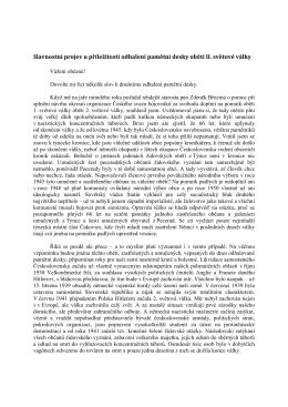 Slavnostní projev u příležitosti odhalení pamětní desky obětí II