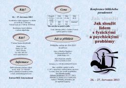 přihláška na Konferenci biblického poradenství 2013.