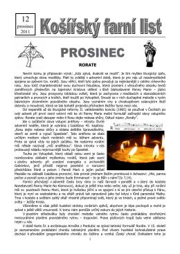 Prosinec 2011 (pdf) - Košířská farnost