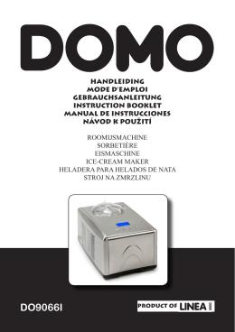 (včetně češtiny) ke zmrzlinovači Domo DO9066I [.pdf]