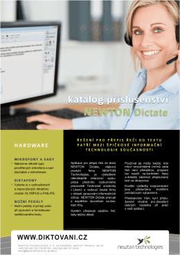 katalog příslušenství - NEWTON Technologies as