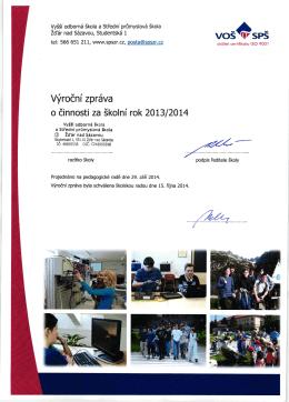 Výroční zpráva 2013/2014 - VOŠ a SPŠ Žďár nad Sázavou