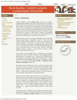 Fuchs z Robettina | Nová šlechta v českých zemích a - golf