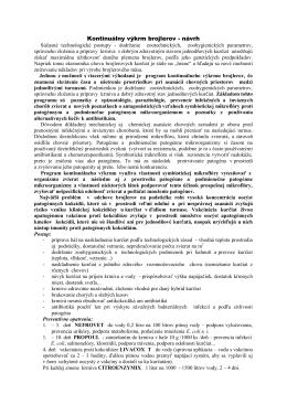Kontinuálny výkrm brojlerov - návrh
