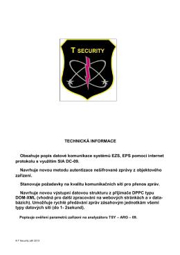 Informace o využití protokolu SIA DC-09 - T