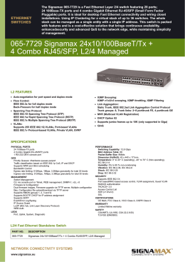 Datasheet Signamax Switch 065-7729