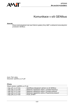 AP0049 - Komunikace v síti GENIbus