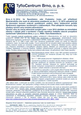 Tisková zpráva k udělění Výroční ceny ministra zdravotnictví