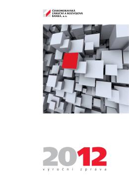 Výroční zpráva za rok 2012 - Českomoravská záruční a rozvojová