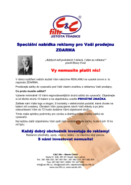 (Speciální nabídka reklamy pro Vaıi prodejnu)