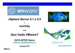 VMware vSphere 5.1 a 5.5 news