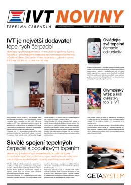 Noviny IVT 2013 - Tepelná čerpadla IVT