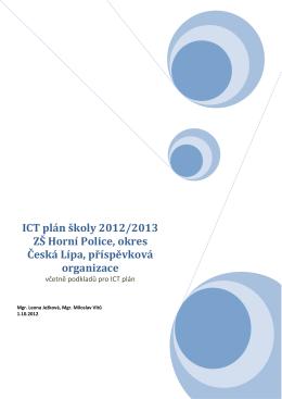 ICT plán školy 2012/2013 ZŠ Horní Police, okres Česká