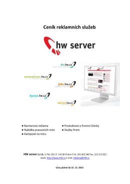 Ceník HW server