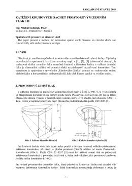 zatížení kruhových šachet prostorovým zemním tlakem - KO